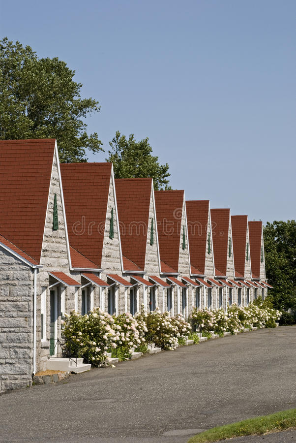 Free Picturesque Row Of Resort Cabins Royalty Free Stock Photos - 10910598