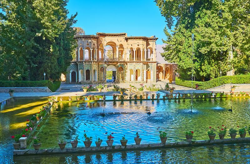 Download Water In Traditional Persian Gardens, Mahan, Iran Stock Image    Image Of Arch