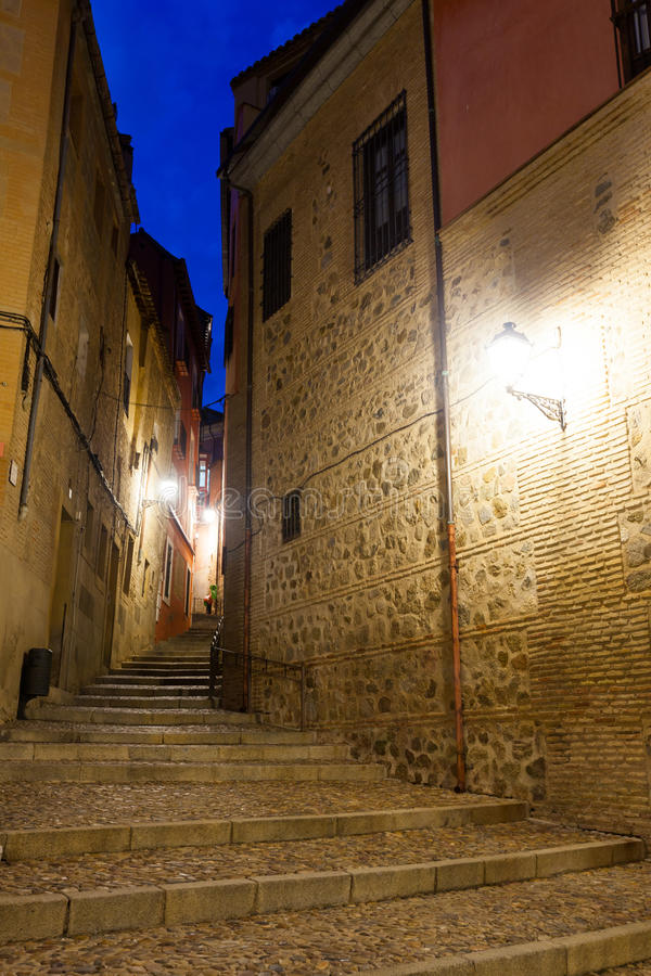 Download Picturesque Street Of Old European City In Night Stock Image - Image of illuminated, narrow: 37480425