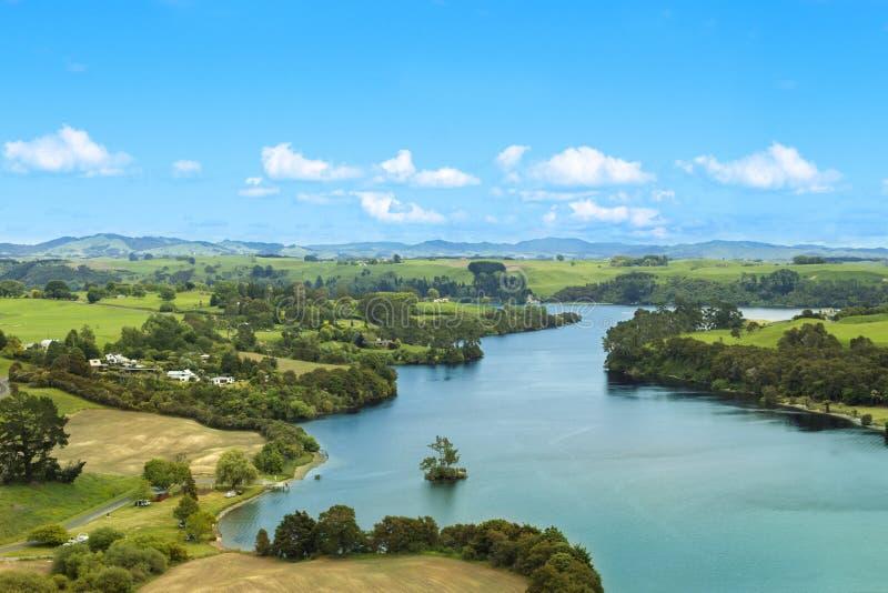 Picturesque summer landscape stock image