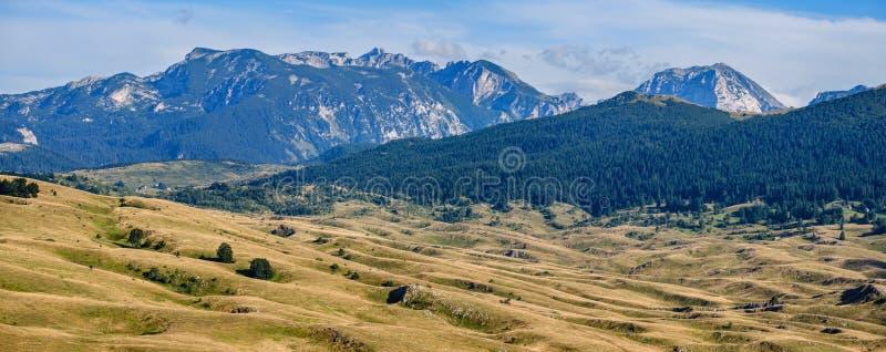 Summer mountain Durmitor National Park, Montenegro.  Durmitor panoramic road stock photos