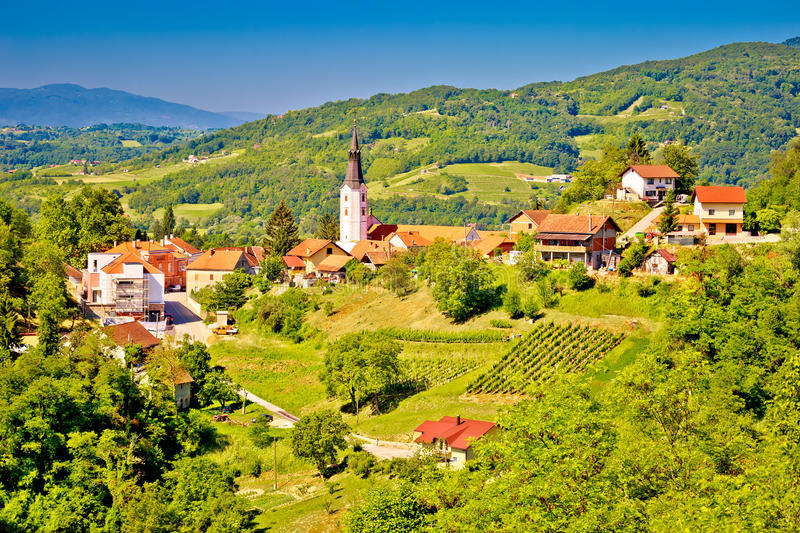 Picturesque town of Klanjec view royalty free stock image