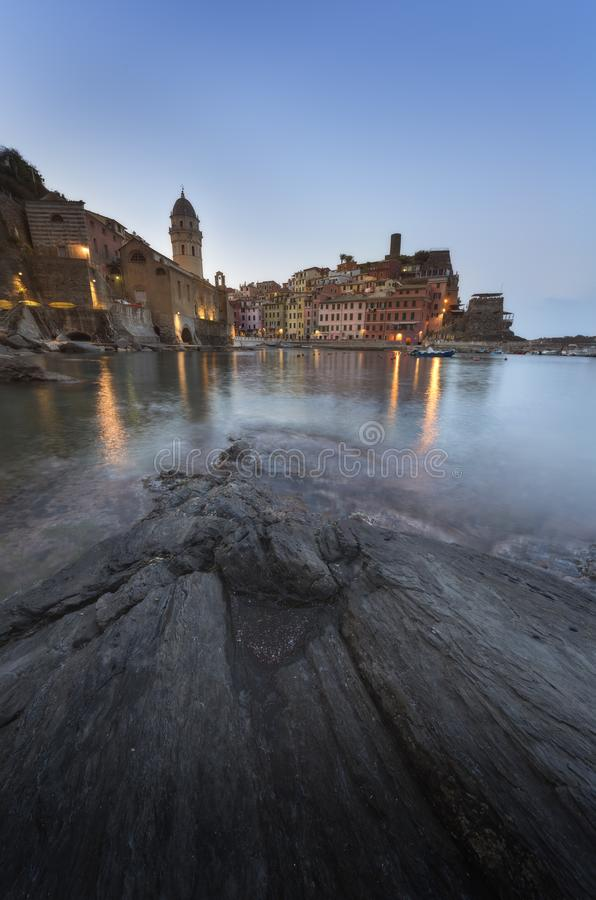 Picturesque town of Vernazza, in the province of La Spezia stock images