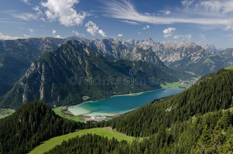 Picturesque view to Achen lake, The Brandenberg Alps, Austria, Europe royalty free stock photo