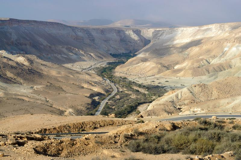 Picturesque views of Ein Avdat and Zin Valley. Negev royalty free stock photos