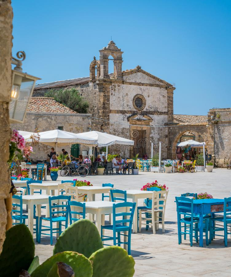 The picturesque village of Marzamemi, in the province of Syracuse, Sicily. Marzamemi is a southern Italian hamlet of Pachino, a municipality part of the royalty free stock photos