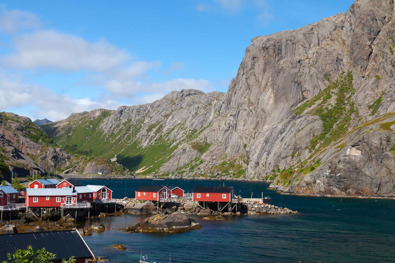Picturesque village Nusfjord royalty free stock photos