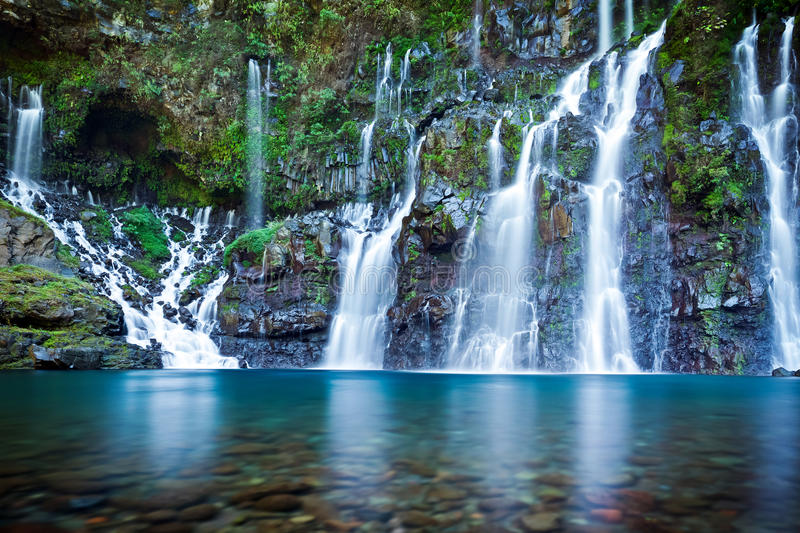 Picturesque waterfall royalty free stock photography