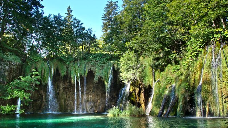 Download Picturesque Waterfalls Scenery In Plitvice Lakes National Park Stock Image - Image of adventure, plant: 108514843