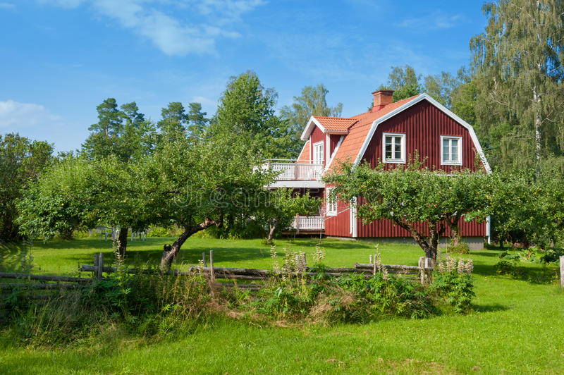 Picturesque wooden house royalty free stock photo