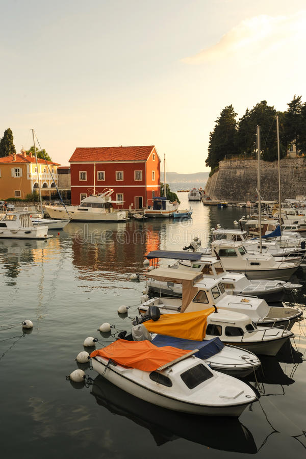 Picturesque Zadar at sunset royalty free stock photography