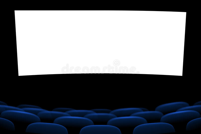 Picure of cinema seats royalty free illustration