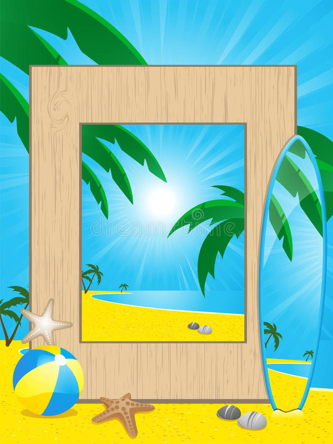 picutre праздника рамки пляжа иллюстрация штока