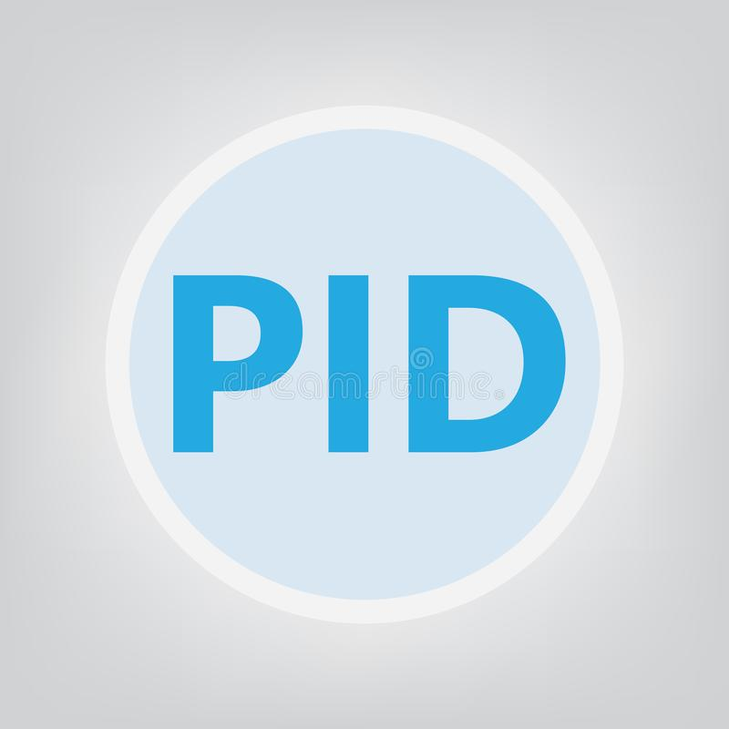 PID Pelvic inflammatory disease acronym stock illustration