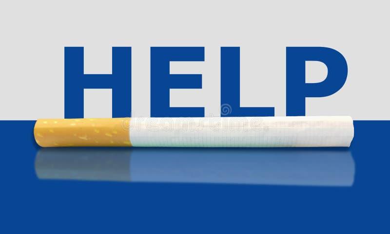 Pida ayuda Consiga la ayuda y abandone el fumar ahora foto de archivo libre de regalías