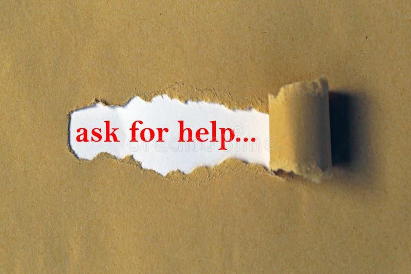 Pida la dirección de la ayuda imagen de archivo libre de regalías