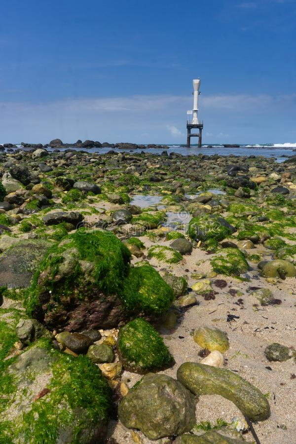 Pidakan strand Pacitan östliga Java Indonesia royaltyfri bild