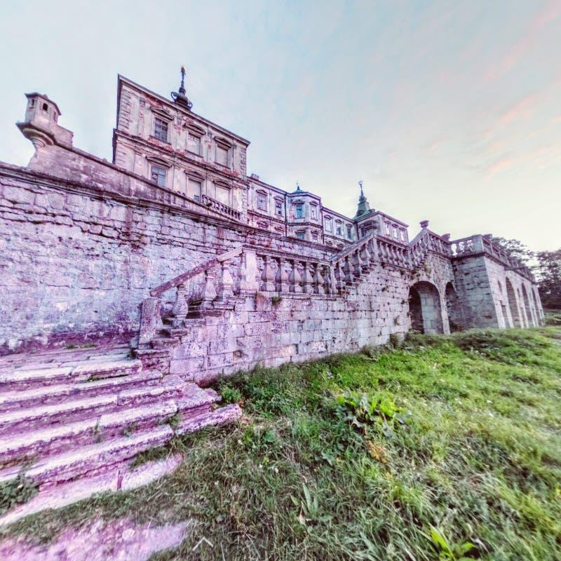 Download Pidhirtsi Castle. Back Facade Fisheye View Stock Photo - Image: 83721278