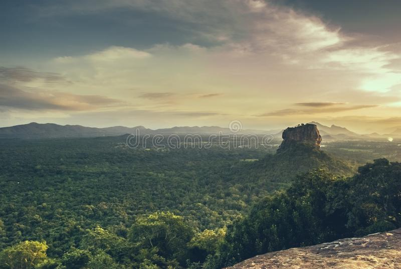 Pidurangala Sri Lanka arkivbild