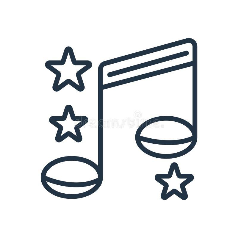 Pieśniowy ikona wektor odizolowywający na białym tle, piosenka znak royalty ilustracja