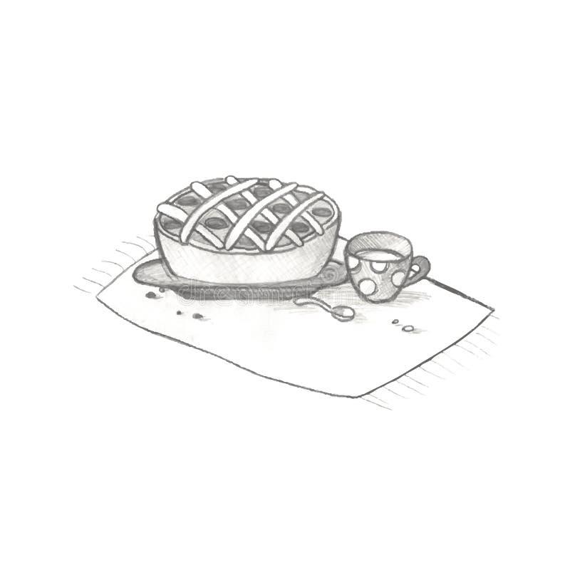 pie stock illustrationer