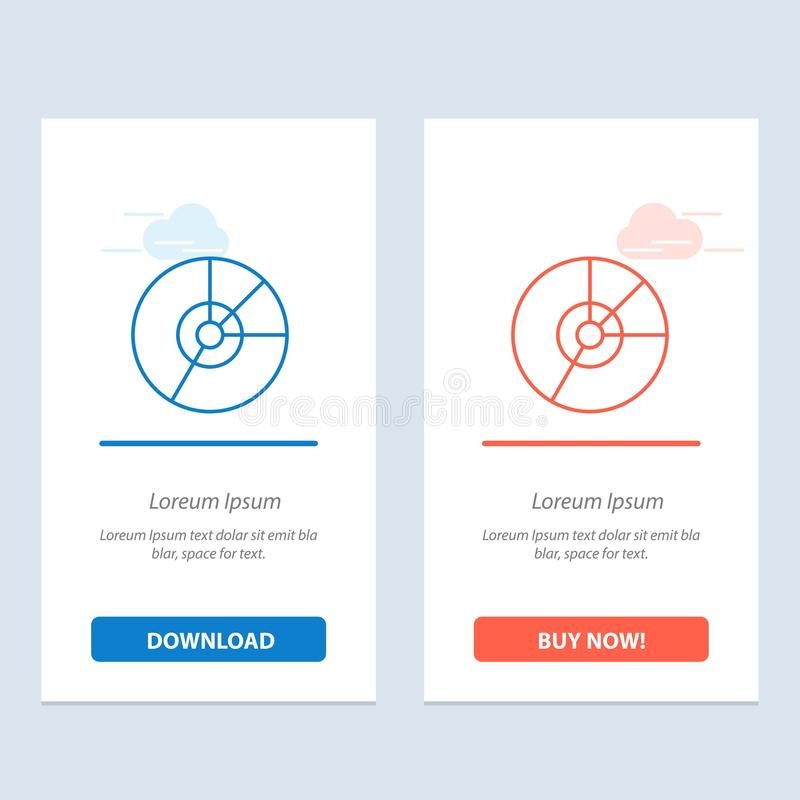 Pie, Business, Chart, Diagram, Finance, Graph, Statistics  Blue and Red Download and Buy Now web Widget Card Template royalty free illustration