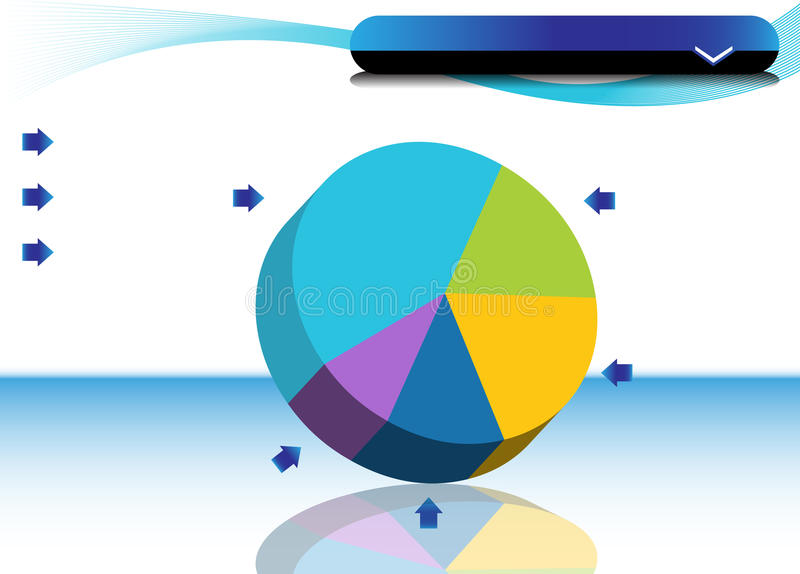 Pie Chart. An image of a Pie Chart vector illustration