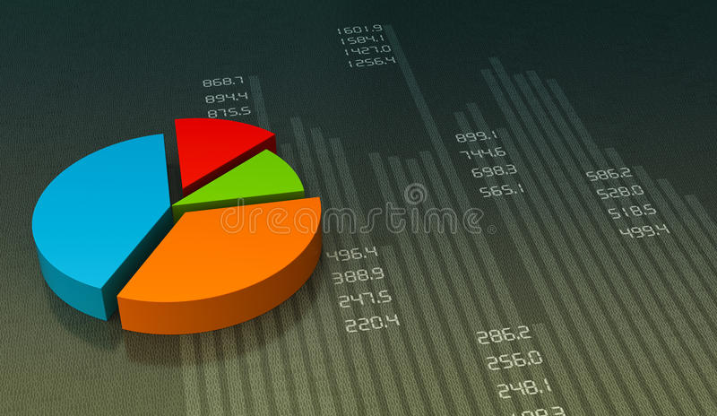 Pie chart. Business pie chart graph. Market data royalty free illustration