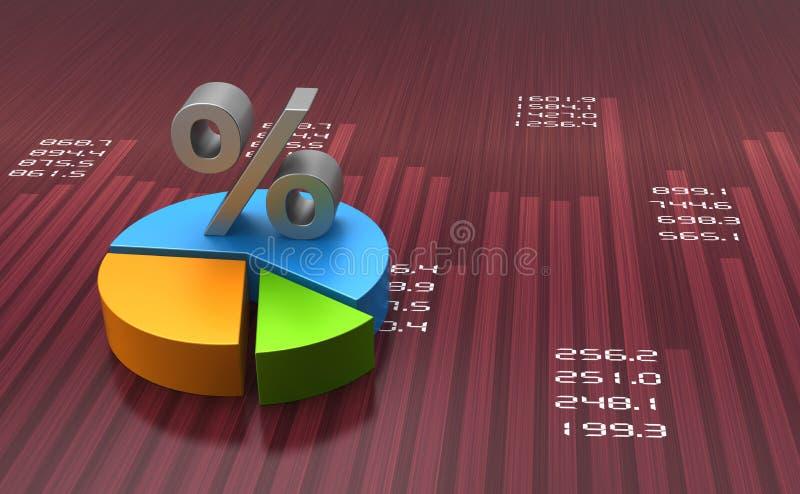 Pie chart stock illustration
