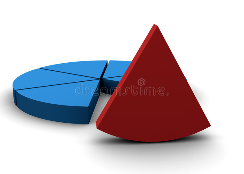 Download Pie chart stock illustration. Illustration of division - 455131