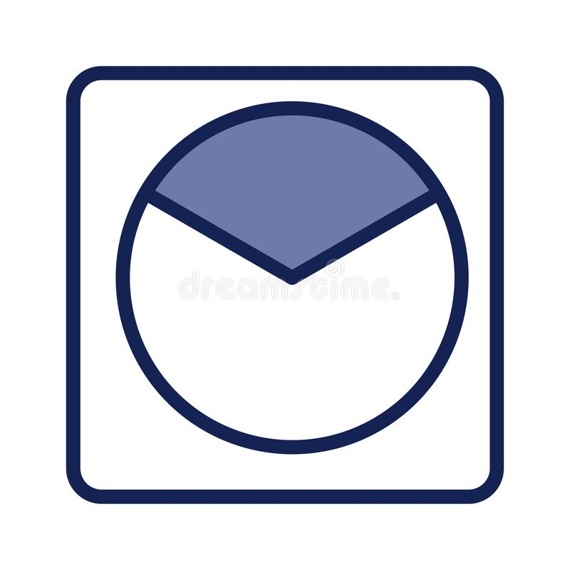 Pie chart blue icon for business for your websites and blogs flat shadow royalty free illustration