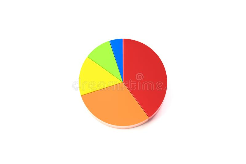 Pie chart. 3d illustration of pie chart stock illustration