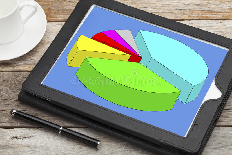 Download Pie Chart On Digital Tablet Stock Image - Image: 36980811