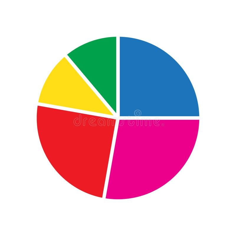 Free Pie Chart Flat Icon, Diagram Icon Royalty Free Stock Photo - 141275645