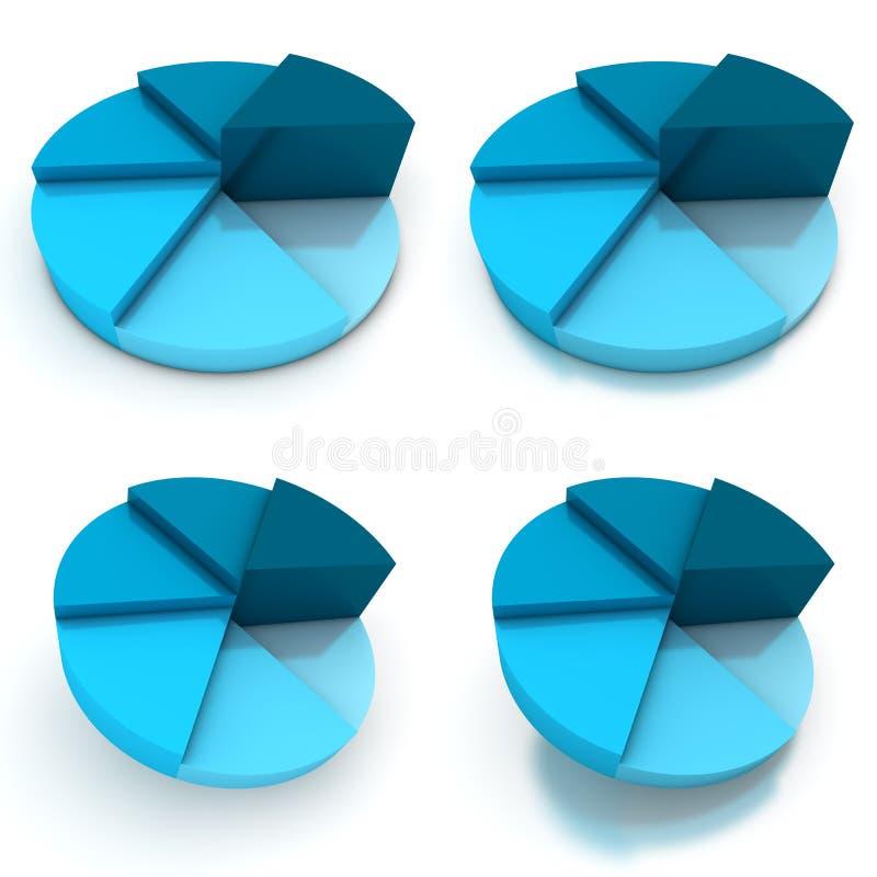 Download Pie Chart - Four Blue Views Stock Illustration - Image: 16504502