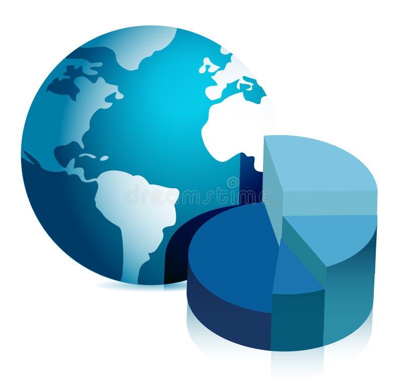 Download Pie Chart And Globe Illustration Design Stock Illustration - Image: 27223031