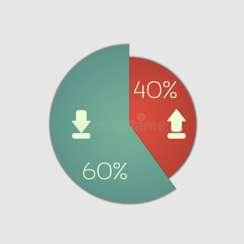 Pie chart. Graphic. Use for business design, infographics, reports and presentations vector illustration