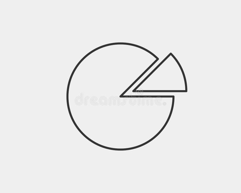 Pie chart icon. Circle diagram vector. Charts graphs logo template vector illustration