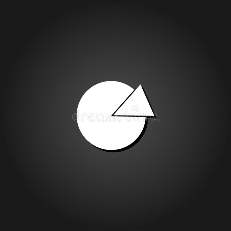 Pie chart icon flat. vector illustration