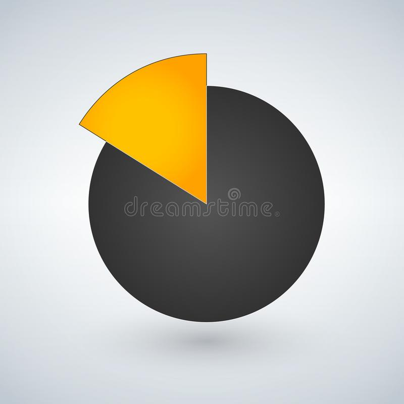 Pie Chart Icon. Graph symbol for your web site design, logo, app, UI. Vector illustration, isolated on white background. vector illustration