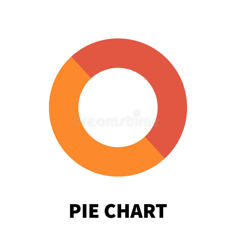 Pie Chart icon or logo in modern flat style. royalty free illustration