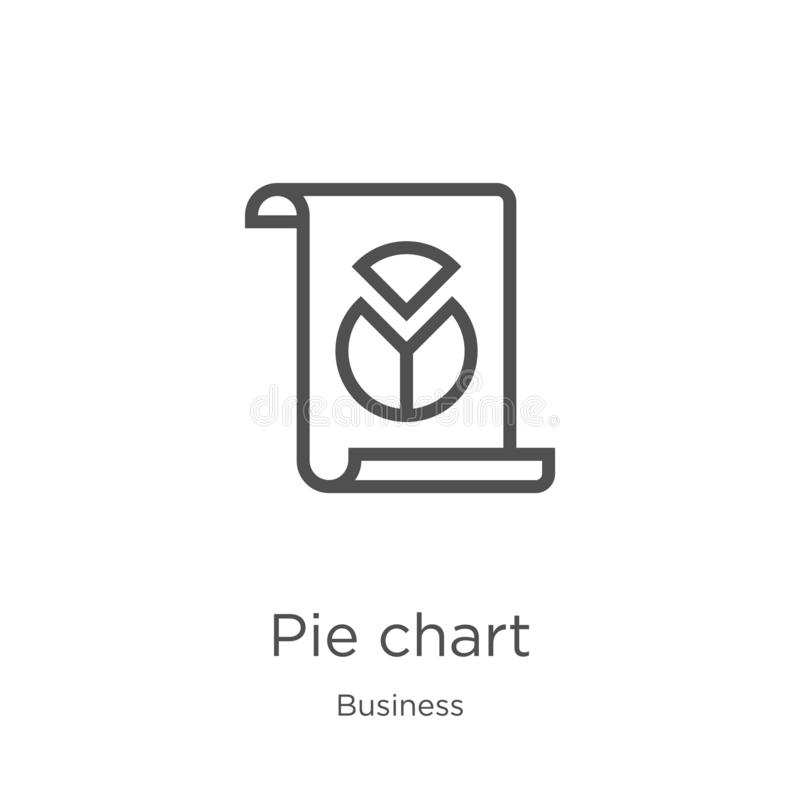 pie chart icon vector from business collection. Thin line pie chart outline icon vector illustration. Outline, thin line pie chart vector illustration