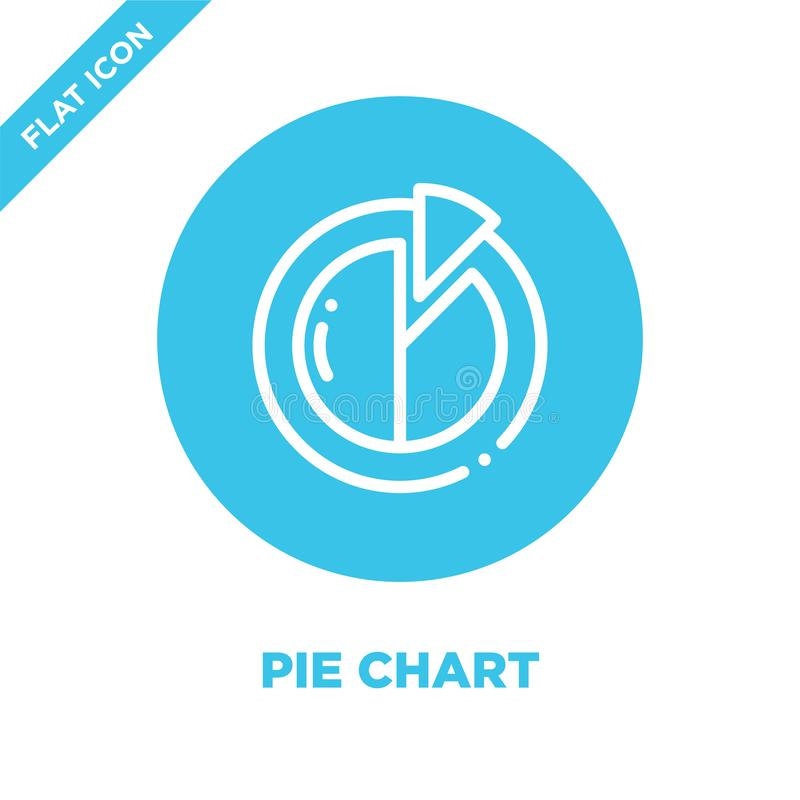 pie chart icon vector. Thin line pie chart outline icon vector illustration.pie chart symbol for use on web and mobile apps, logo vector illustration