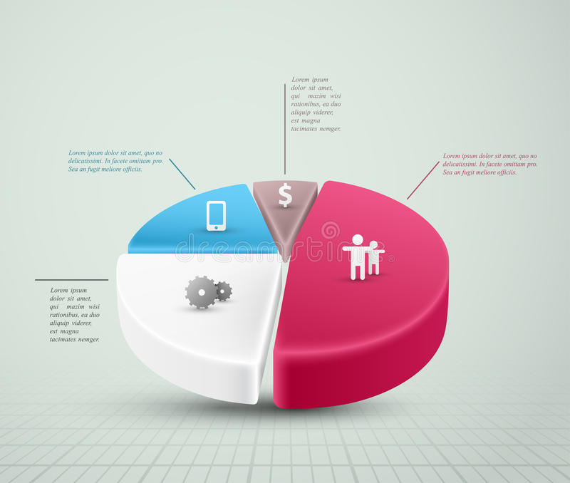 Pie Chart. Infographic element. Eps 10 royalty free illustration
