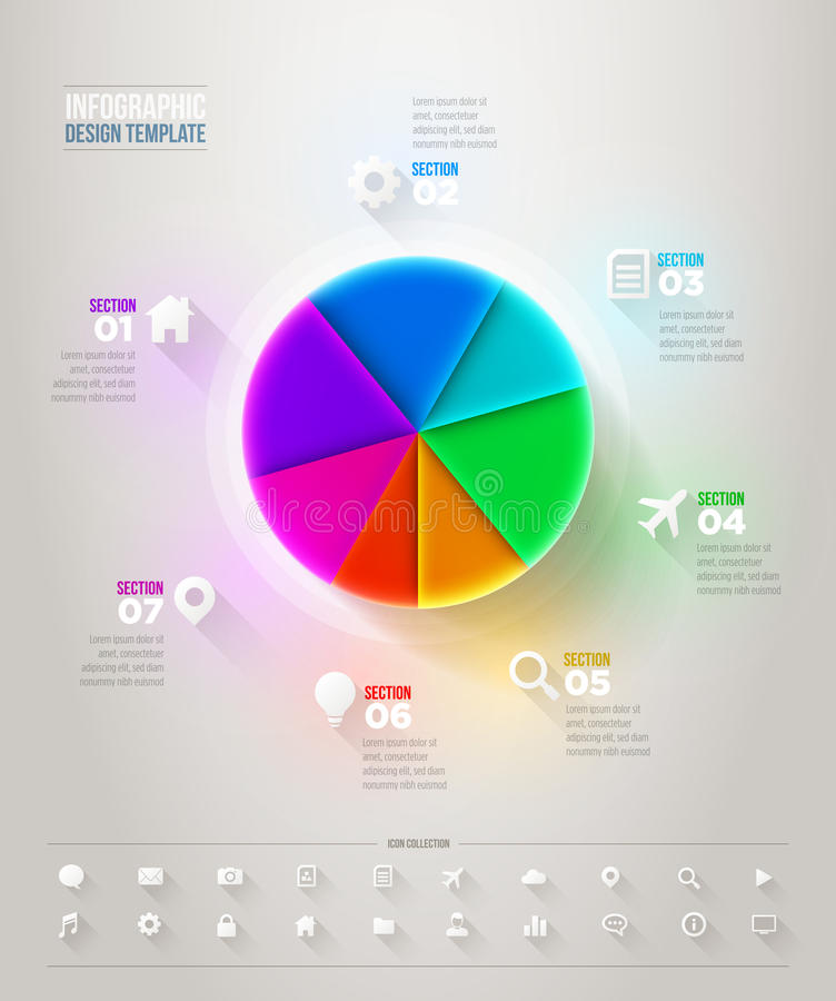 Pie Chart Infographic vector illustration