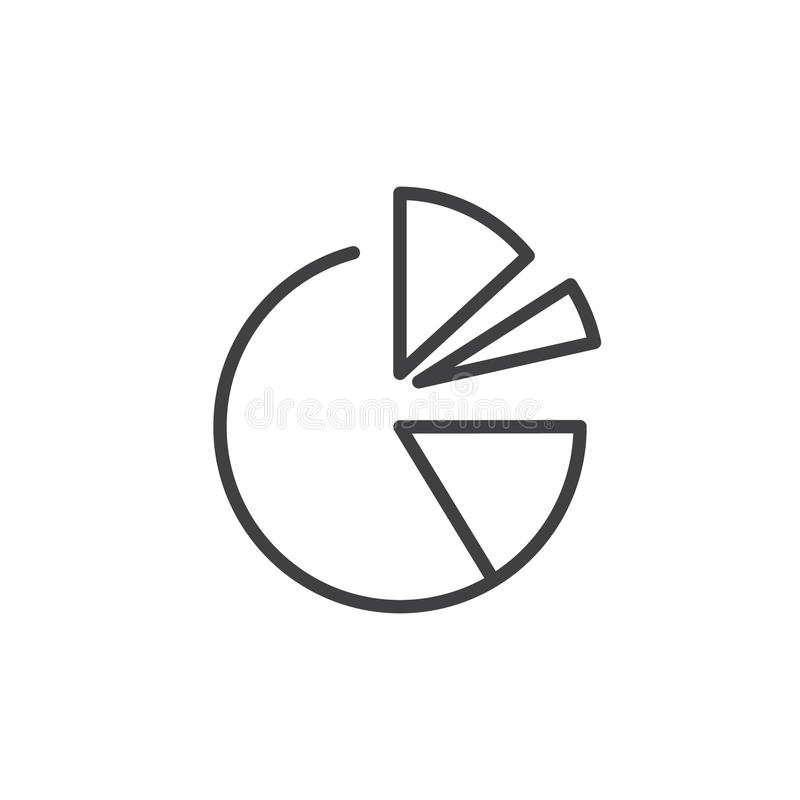 pie chart line icon  outline vector sign  linear style