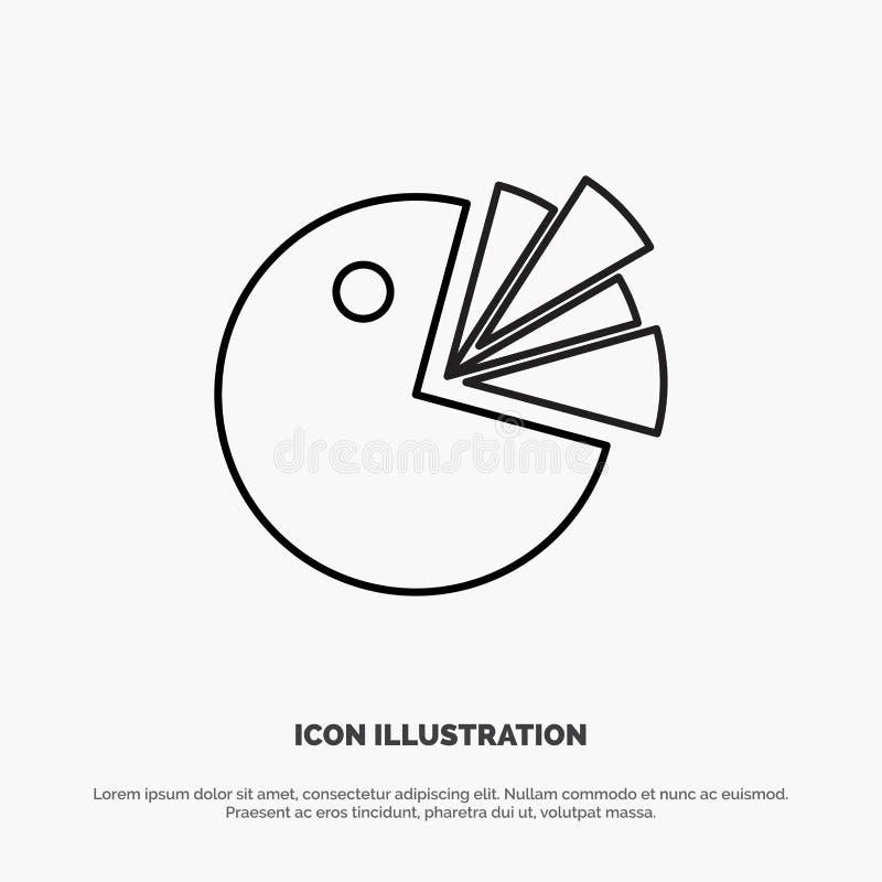 Pie, Chart, Presentation, Diagram Line Icon Vector royalty free illustration