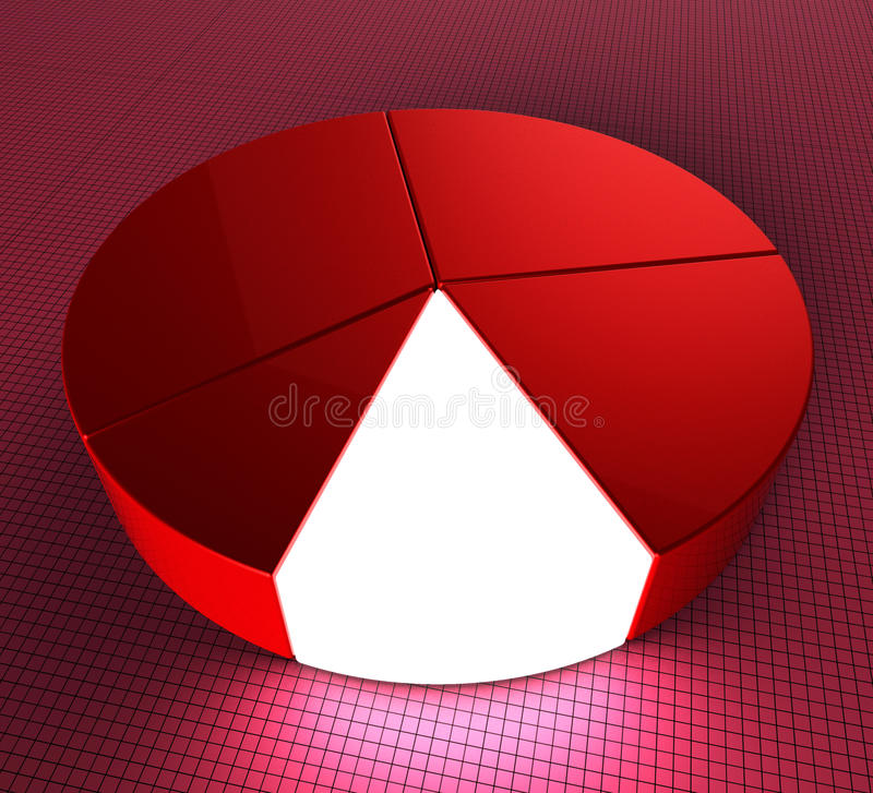 Pie Chart Shows Statistic Profit And Graphics Stock Illustration