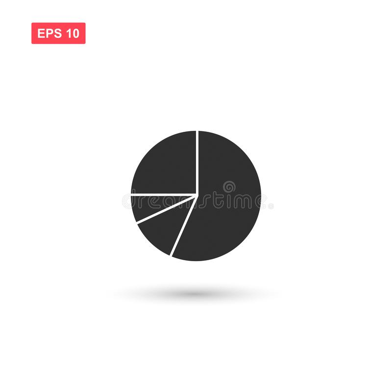 Pie chart vector icon isolated vector illustration