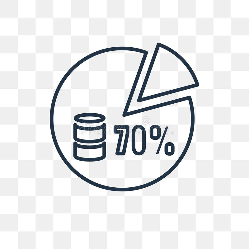 Pie chart vector icon isolated on transparent background, linear. Pie chart vector outline icon isolated on transparent background, high quality linear Pie chart vector illustration
